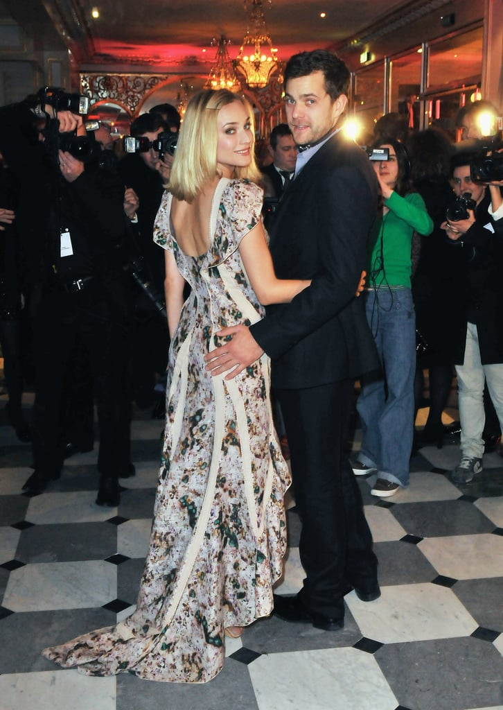 Joshua Jackson had Diane Kruger by his side at the Paris Fashion Dinner For Aids in January 2009.