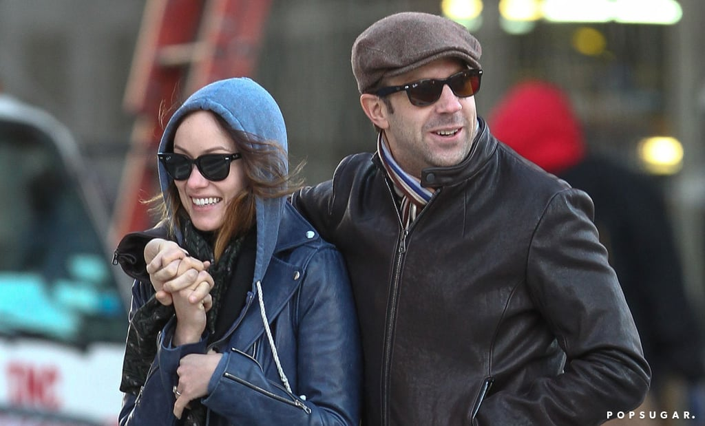Jason Sudeikis and Olivia Wilde showed PDA in NYC.