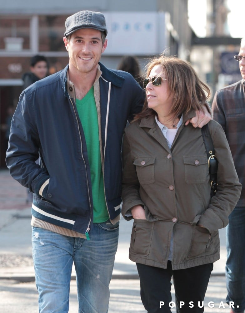 Dave Annable spent St. Patrick's Day strolling in NYC with his mom in March 2012.