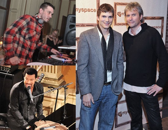 Ashton Kutcher Opens Up About His Daughters At the MySpace Web 2.0 Party with Lionel Richie and DJ AM