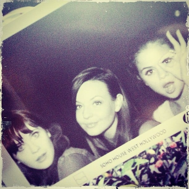 "Selena Gomez had a ""ladies' night"" with Zooey Deschanel. Source: Instagram user selenagomez"
