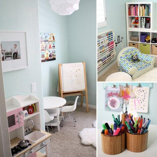Adella and Nolan's Creative, Book-Filled Playroom