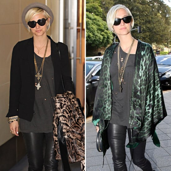Ashlee Simpson Green Leopard Cardigan