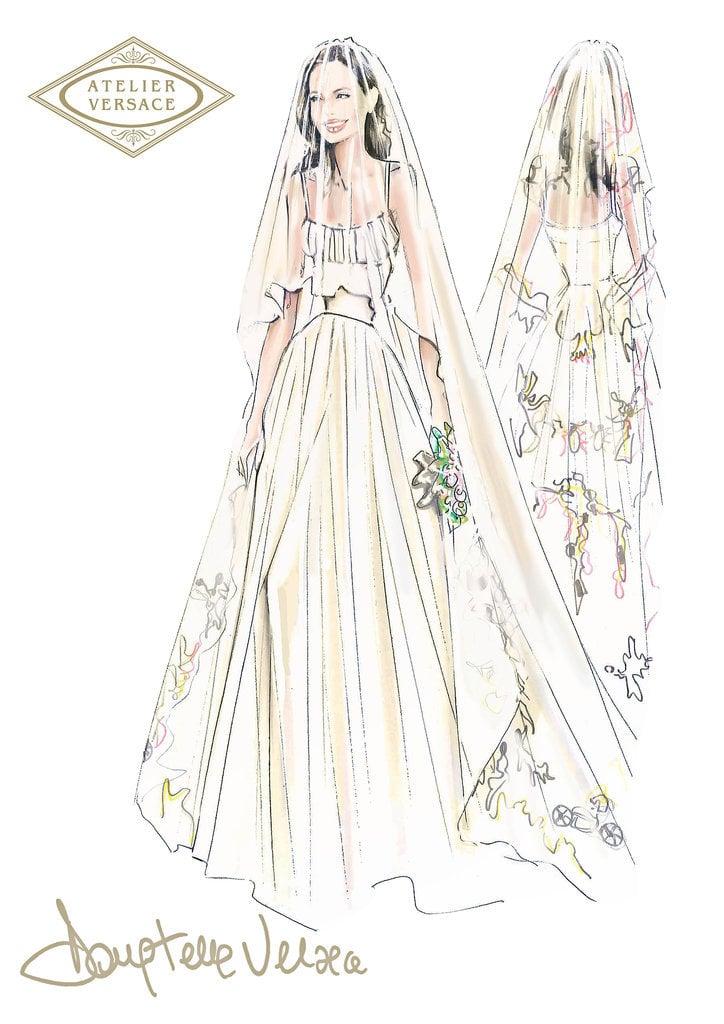 The Sketch of Angelina Jolie's Wedding Veil