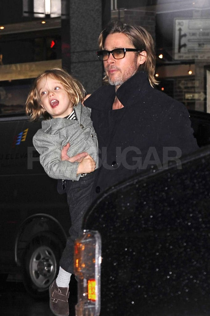 Brad and Angelina Drop In NYC's FAO Schwarz With All Six Kids!