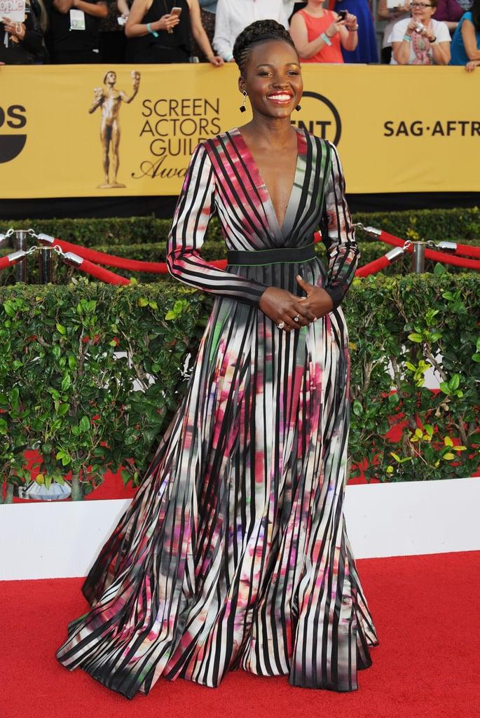 Lupita Nyong'o at the  2015 SAG Awards