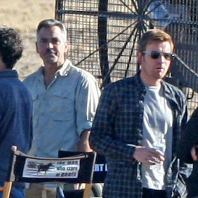 George Clooney and Ewan McGregor Film Men Who Stare at Goats