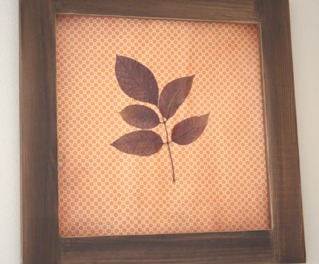 DIY: Pressed Leaf Art