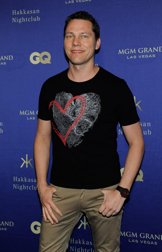 Tiesto arrived at the nightclub Hakkasan's grand opening at the MGM Grand in Las Vegas.