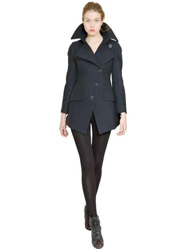 Asymmetric Wool Cloth Coat
