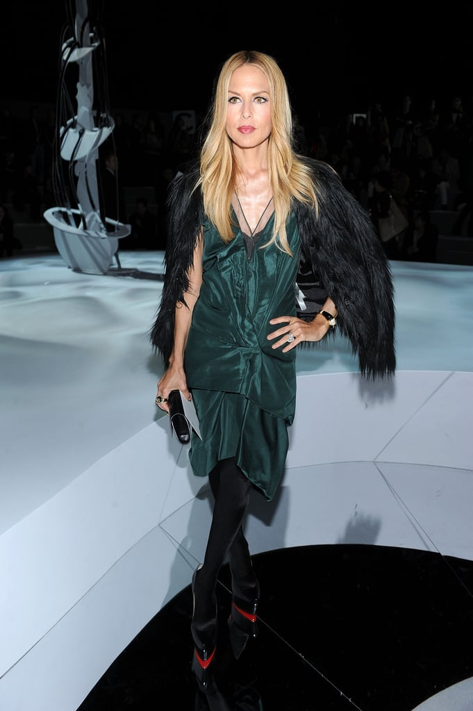 Rachel Zoe attended the Marc Jacobs show, which is always a hot ticket at NYFW.