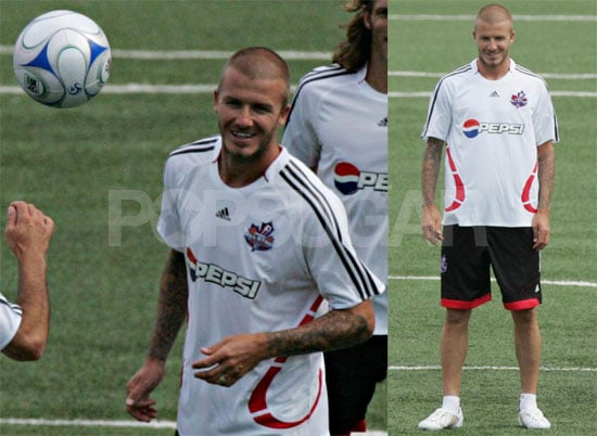 Photos of David Beckham Practicing For MLS All-Star Game in Toronto