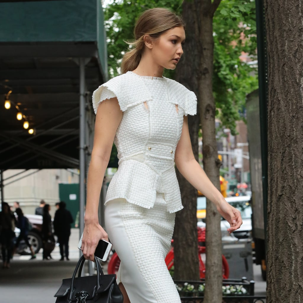 Gigi Hadid White Dress Street Style May 2016 Popsugar Fashion