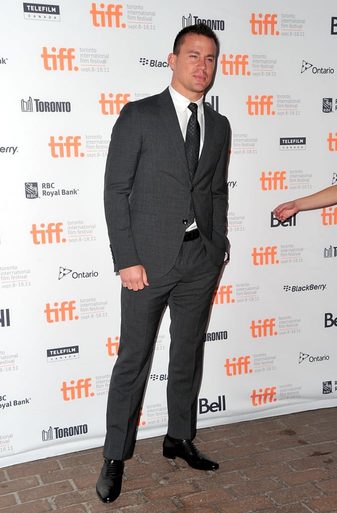 Channing Tatum wore a slim suit to the premiere.