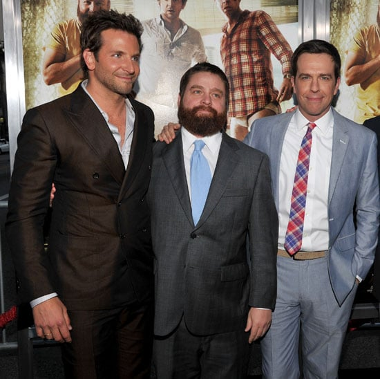 Bradley Cooper, Ed Helms, and Zach Galifianakis at the LA Premiere of The Hangover Part II