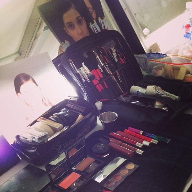 This makeup kit at J. Mendel was decked out in Revlon essentials.