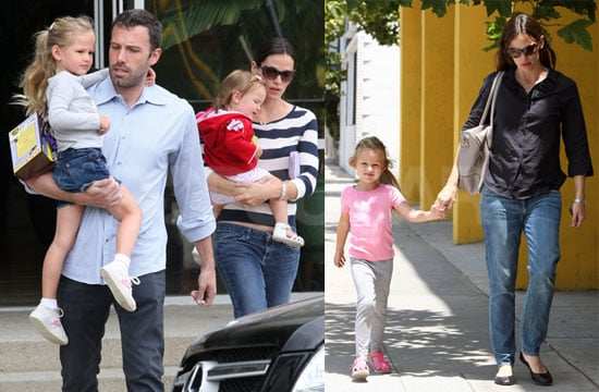 Pictures of Ben Affleck And Jennifer Garner With Daughter Violet And Seraphina in LA