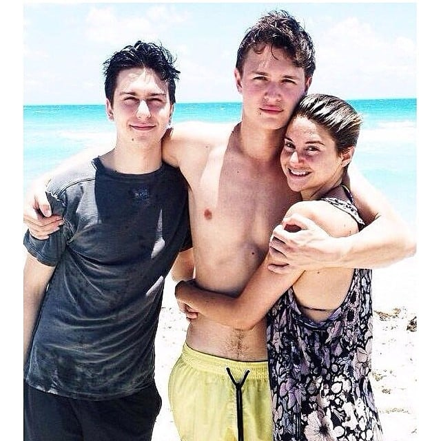 When He Had the Best Beach Day With His TFIOS Costars