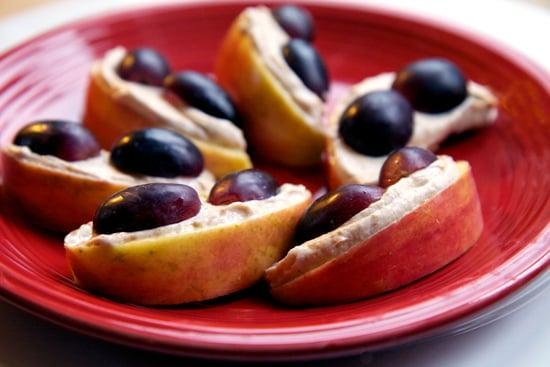 Apple Slices and Yoghurt Peanut Butter Dip