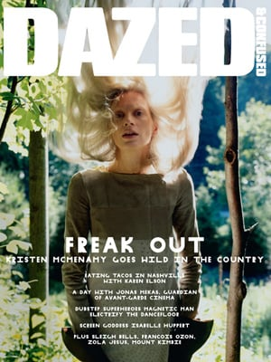 Kristen McMenamy on the Cover of Dazed and Confused September 2010
