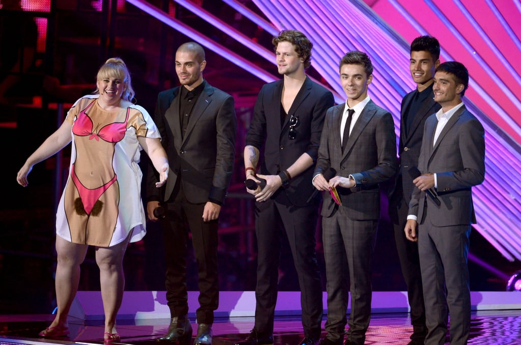 Rebel Wilson wore a cheeky t-shirt at the 2012 VMAs when she took to the stage with The Wanted.