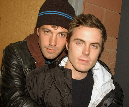 Hot brothers Casey and Ben Affleck showed some affection in Park City in 2002.