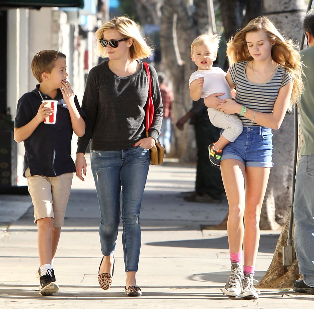 Reese Witherspoon Takes Her Mini Mes Out on the Town