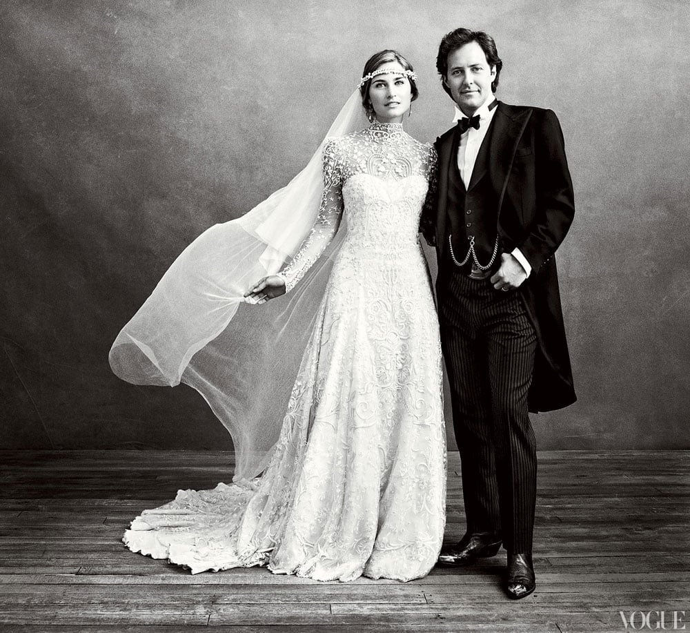Seeing as she married Ralph Lauren's son, David, it made complete sense that Lauren Bush chose a covered-up Ralph Lauren gown for her Sept. 2011 wedding. We're so glad she shared this photo in Vogue — it's simply stunning.
