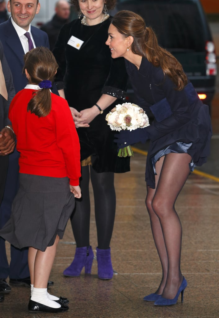 On Wednesday, Kate Middleton attended a forum at Place2Be and listened to discussions about cyberbullying, addiction, and self-harm — and had a near Marilyn Monroe moment.
