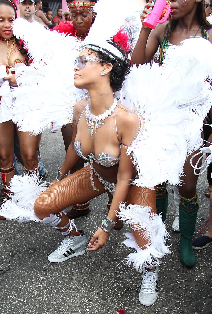 Rihanna showed off her moves and her curves as she celebrated the Crop Over festival in Barbados this week.