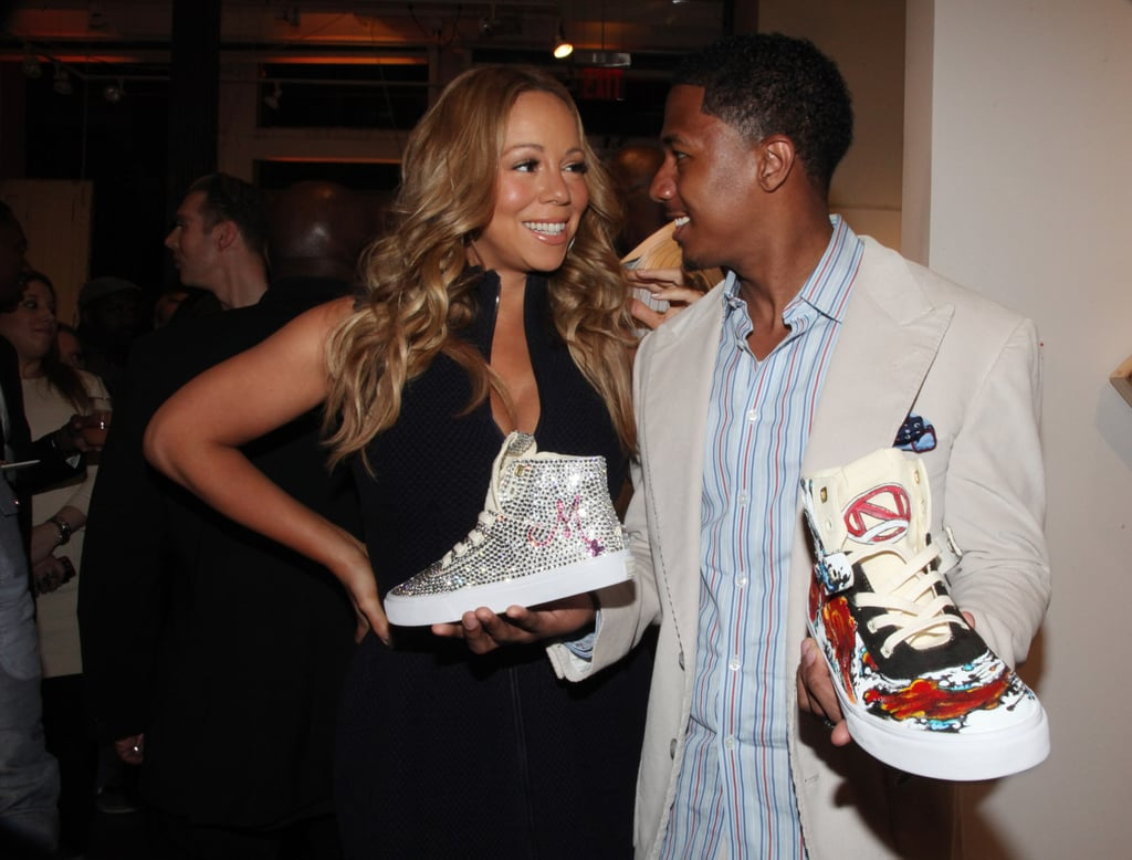 Mariah Carey and her husband, Nick Cannon, hit the town in NYC for the May 2012 Project Canvas Exhibition and Art Gala.
