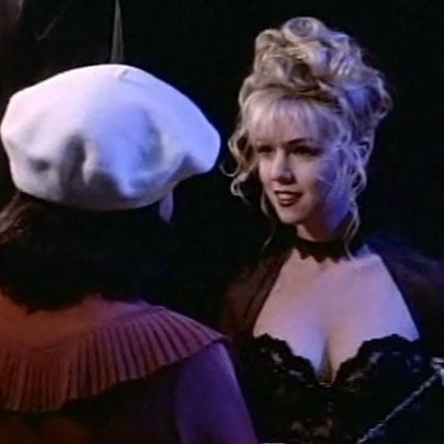 Brenda scolds Kelly for her costume choice.