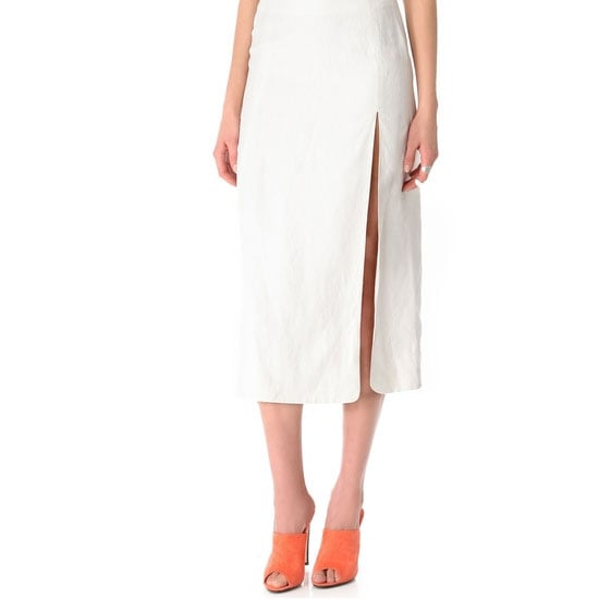 I'm loving the simplicity of white, combined with a longer hemline. I'll be able to wear this skirt in Winter as well, with a chunky knit and over the knee boots. Hotness. — Alison, BellaSugar editor Skirt, approx $443, Jenni Kayne at Shopbop