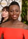 Lupita Nyong'o's gold eye shadow and high-shine lips radiated star power.