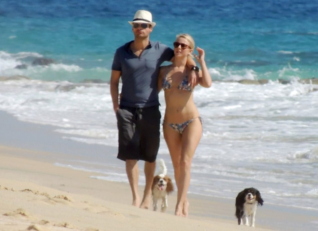 Ryan Seacrest had his arm around Julianne Hough during a November 2012 walk on the beach in Cabo.