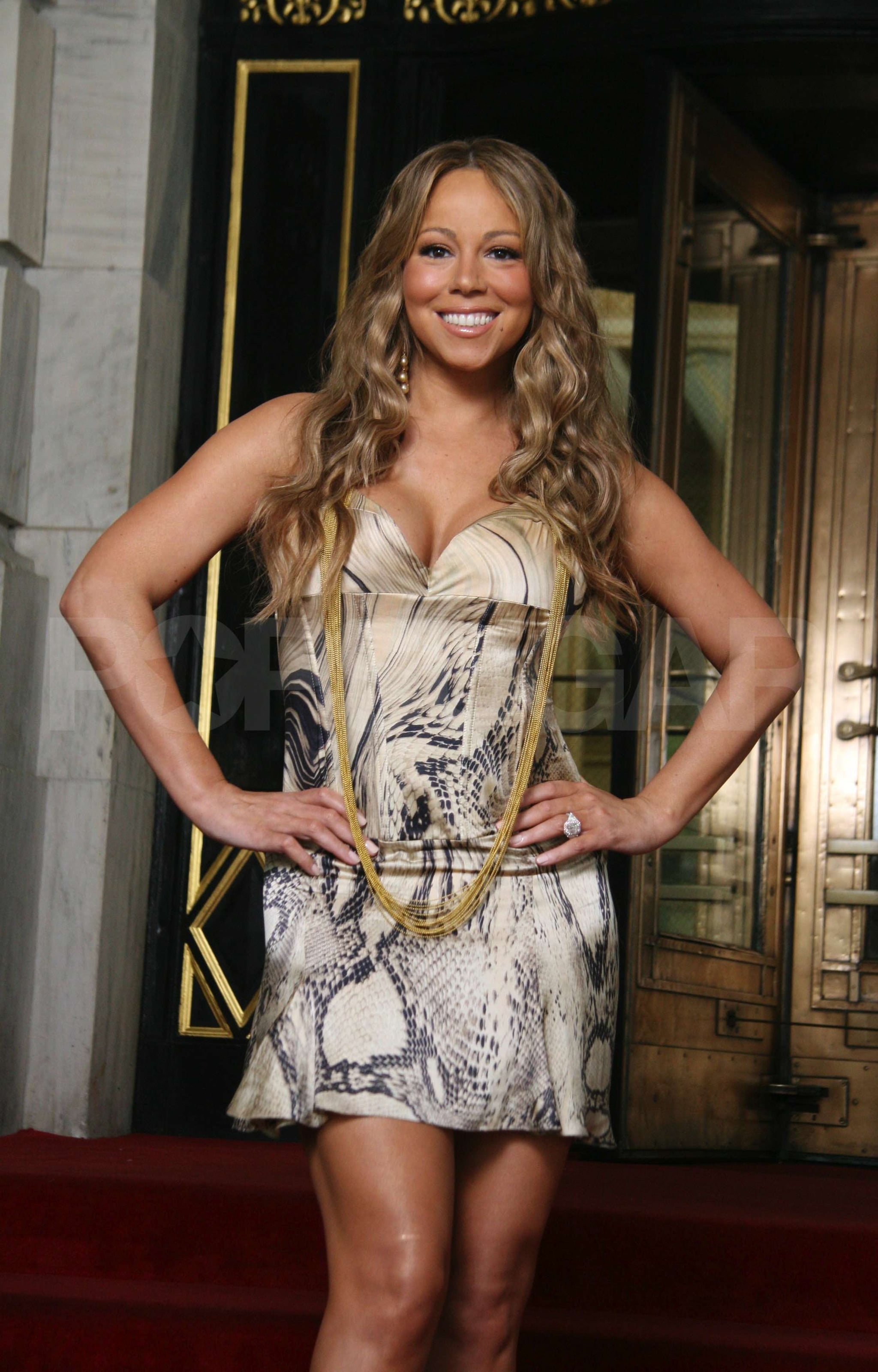 Photos of Mariah Carey Filming Her Video