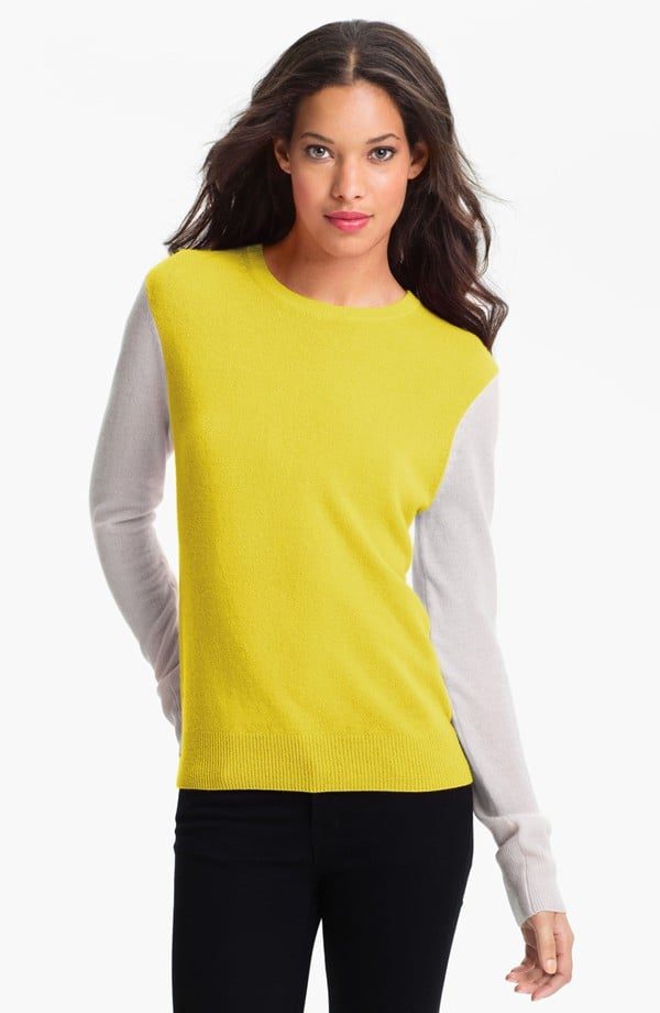 You can either sport this Equipment colorblocked sweater ($278) or sling it over your shoulders when it gets warm.
