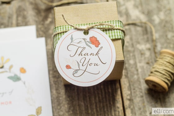 Country Floral Thank You Tag