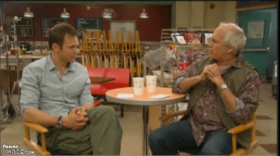 Buzz-Worthy Video of the Day: Joel McHale, Chevy Chase Spar