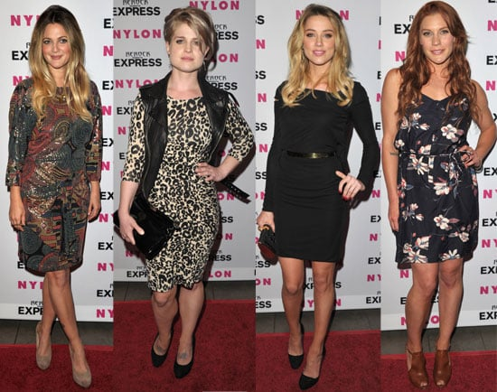 Pictures of Drew Barrymore and Katee Sackhoff at Nylon's Denim Issue Party