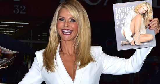 Christie Brinkley Is 'Timeless' In A White Low-Cut Mini-Dress