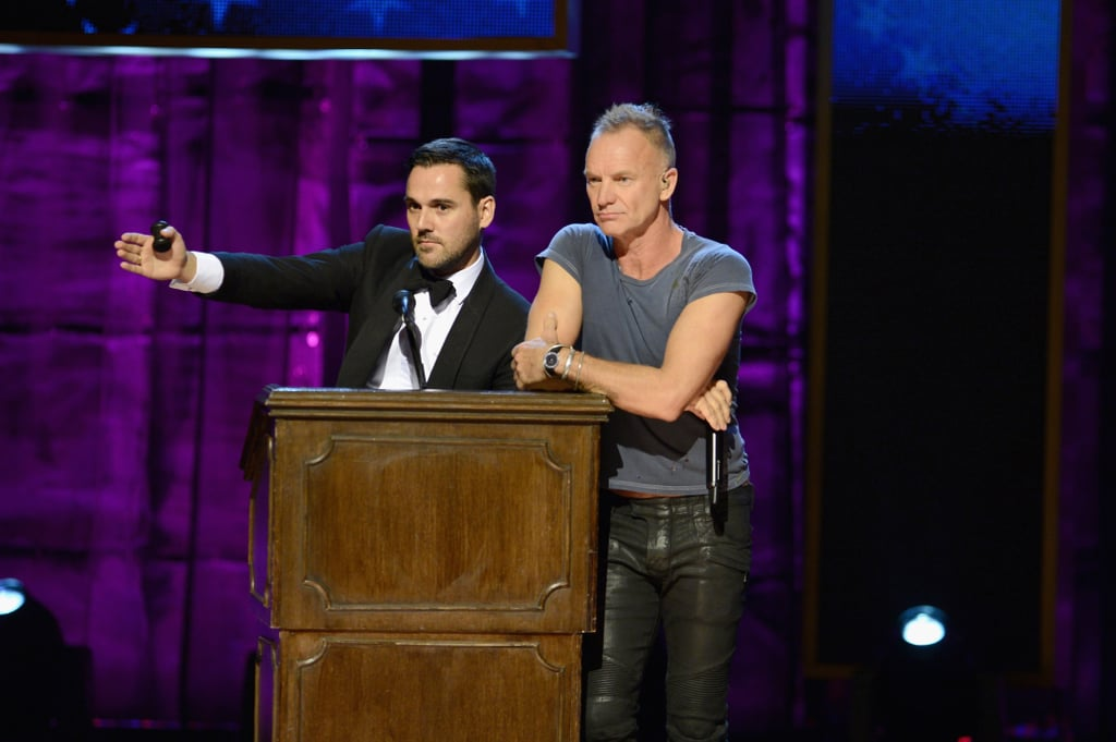 Sting appeared on stage at the NYC event to raise support for autism research.