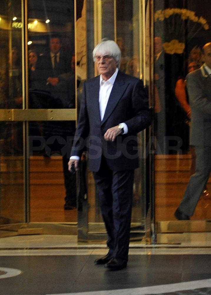 Bernie Ecclestone joined his family for the celebratory evening.