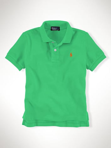 Keep it simple and classic with this green boy's polo ($35).