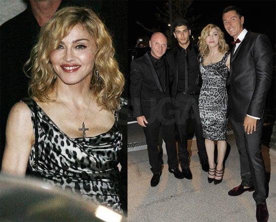 Photos of Madonna, Domenico Dolce, Stefano Gabbana, Jesus Luz in Milan