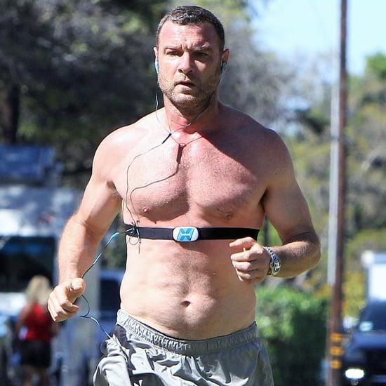 Liev Schreiber Running Shirtless in LA