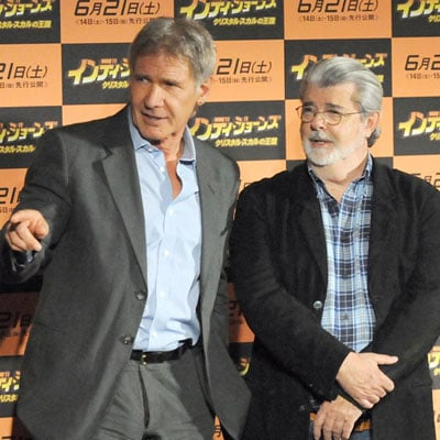 Harrison Ford and George Lucas Promote Indiana Jones