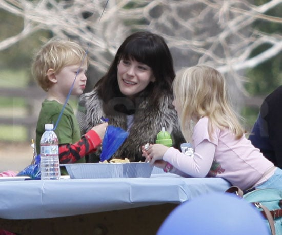 Photo of Liv Tyler and Son Milo Langdon at a Birthday Party in LA