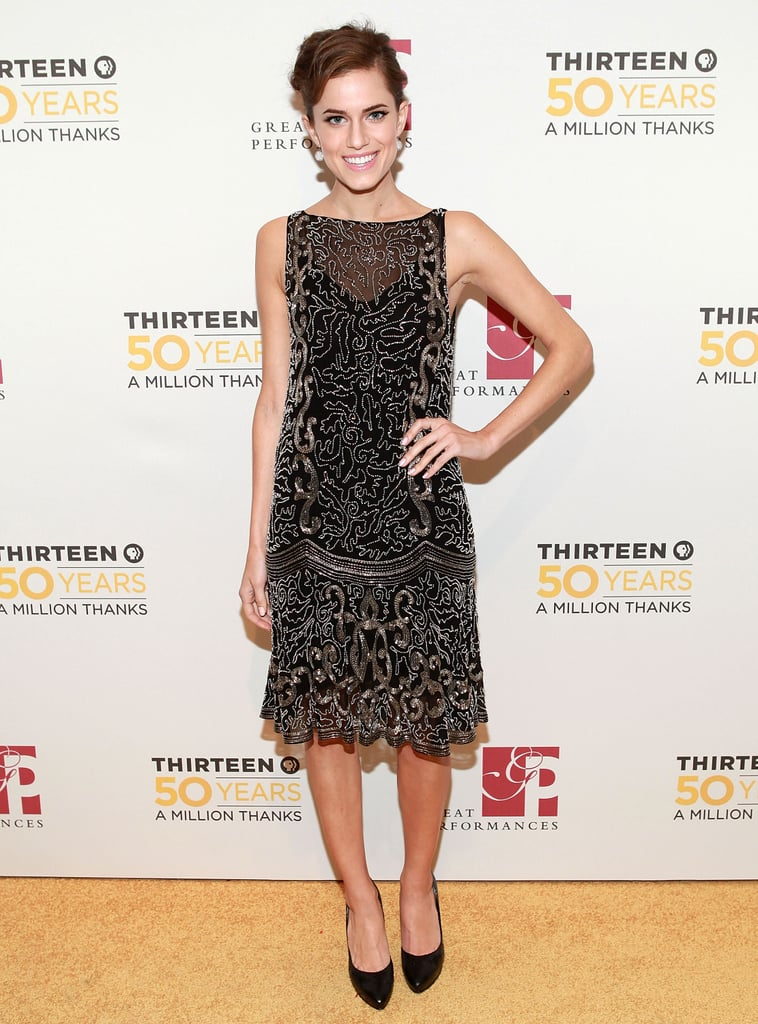 At the 50th Anniversary Gala Salute in 2012, Allison channelled the 1920s with a twist, styling her all-over embellished Ralph Lauren dress with diamond ball earrings and a retro updo.
