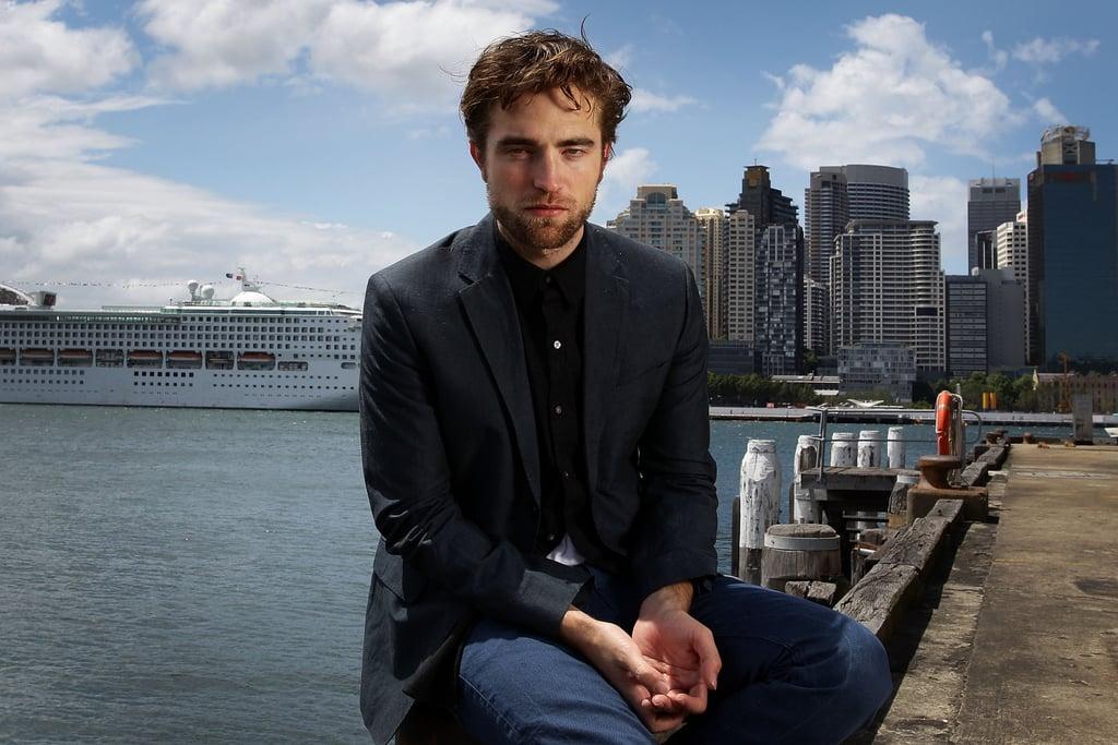Robert Pattinson posed for photos in Sydney.